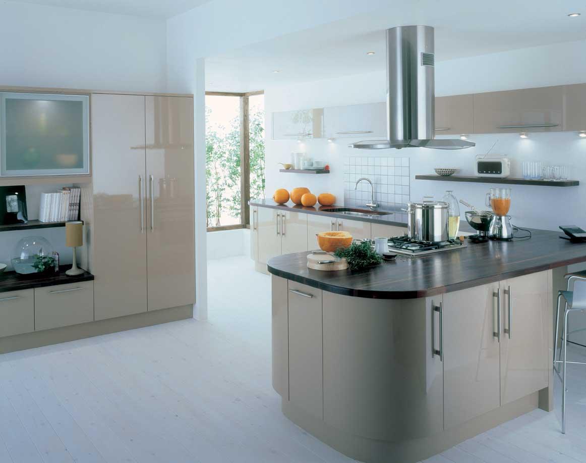 Stunning Brown Modern Kitchen Full Refurbishment