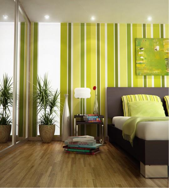 Green Yellow Bedroom
